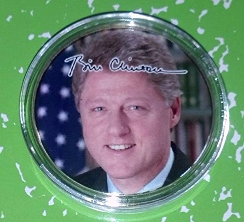 US President Bill Clinton Colorized Challenge Art Coin