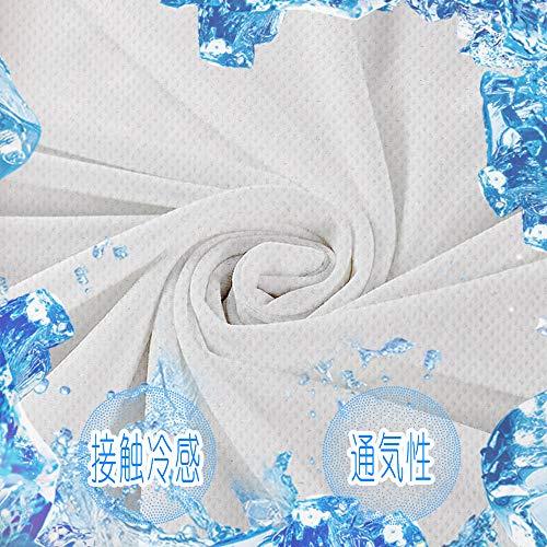 Aicvhin 冷感生地 布 吸水冷感 接触冷感 生地 UVカット 吸水速乾ひんやり冷たい 熱中症対策 手芸 手作りキット (ホワイト, 49cm*49cm)