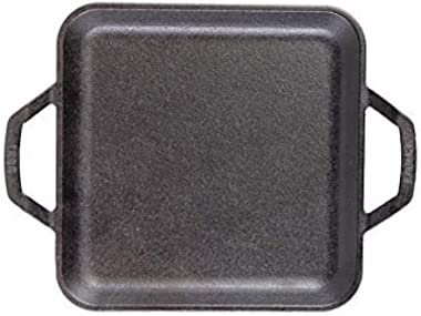 Lodge Chef Collection 11 Inch Cast Iron Chef Style Square Griddle. Handles, Large Cooking Surface and Seasoning Are Ready for