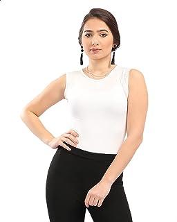 Andora Round Neck Basic Cotton Tank Top for Women