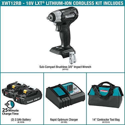 Makita XWT12RB 18V LXT Lithium-Ion Sub-Compact Brushless Cordless 3/8
