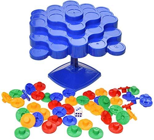 YANGYOU Tipple Topple Game Juego De Mesa - 2-4 Jugadores Juego De DiversióN Familiar Juguetes De Equilibrio Juego De Mesa De Derribo Rollo De Dados Y Piezas De Lugar Juguetes De Equilibrio