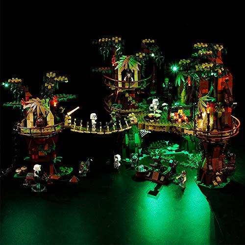WYY Kit de iluminación DIY Compatible con Lego 10236, LED Conjunto de luz para Ewok Village Building Blocks (sólo Sistema de la luz)
