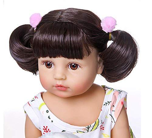 WYZQ Reborn Baby Dolls Lifelike, Girl 55 Cm 22 Inch Soft Silicone Vinyl Dolls, Reality Eyes Open Newborn Girls Handmade That Look Real Toddler Magnetic Toys Nurturing Dolls