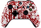 Blood Splatter UN-MODDED Custom Controller Compatible with Xbox One S Unique Design (with 3.5 Jack)
