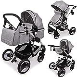 Die Nr. 1 auf Amazon - Daliya Bambimo 3 in 1 Kinderwagen - Kombikinderwagen Riesenset 14-Teilig incl. Babywanne & Buggy &...