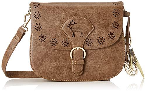 Lady Edelweiss Damen Trachtentasche Schultertasche Braun (Braun)