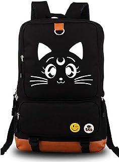 Anime Backpack Sailor Moon Cosplay Luminous Cute Cat School Bag (Pattern Cat)