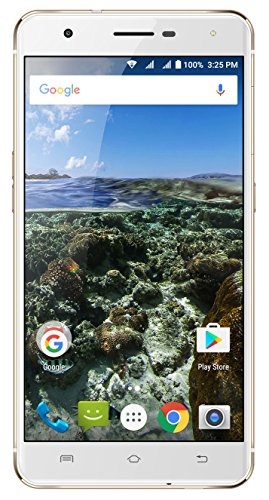 AZUMI Kinzo A55 OLi - 5.5' High Definition AMOLED Display 32GB +3GB 4G LTE US GSM Unlocked Dual Sim Smartphone Gold (AT&T and T-Mobile Compatible)