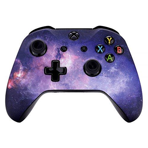 eXtremeRate Cover Copertura Frontale Joystick Custodia Anteriore Ricambio per Xbox One S X Controller Model 1708(Galassia Nebulosa)