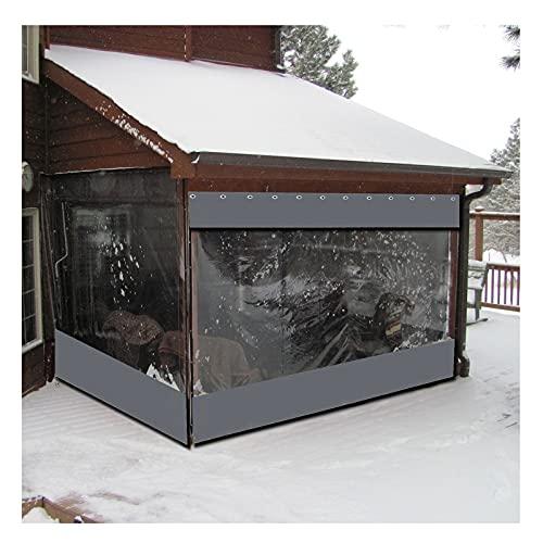 Myan - Tenda per esterni, per gazebo e balcone, in PVC, impermeabile, con occhielli, personalizzabile (3 x 2,4 m, colore: grigio