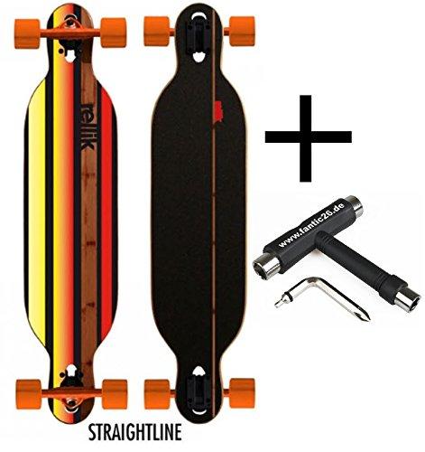 Rellik Longboard Straightline Drop-Through/Twin-Tip 38
