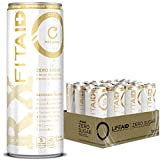 LIFEAID FITAID Rx Zero, Keto-Friendly, #1 Post-Workout Recovery Drink, 0g Sugar, Quercetin, Creatine, BCAAs, Omega-3s, Green Tea, 5 Calorie, No Artificial Sweeteners Pack of 12), 12 Fl Oz