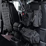 AL4X4 Two sets Tactical Rigid Molle Aluminum Insert Panel with Multifunctional Storage Bag,Medical First Aid Utility Pouch,Water Cup Bag Modular Storage Platform and 20 Fastening Tape for Jeep,SUV,Car