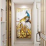 YCCYI Leinwandbilder Wandkunst für Wohnzimmer Pfau Tier