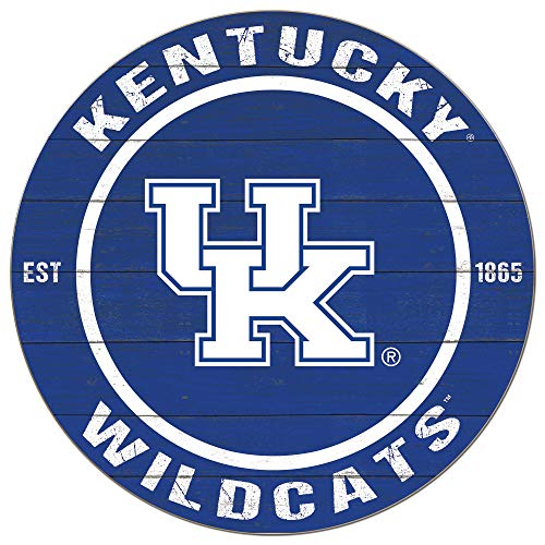 KH Sports Fan Kentucky Wildcats 20'x20' Weathered Circle Sign, Team Color
