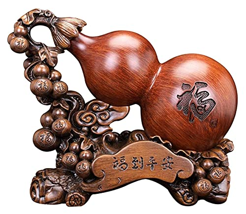 BANNAB Adornos Estatua Hogar Sala de Estar Gabinete de Vino Escritorio Calabaza Decoración Inauguración Nueva casa Regalos Feng Shui Estatua Decoración Decoración de Escritorio (Tamaño: Pequeño)