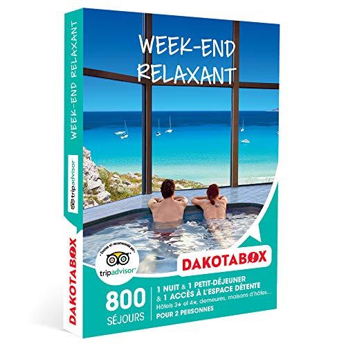 DAKOTABOX - Week-end relaxant - Coffret Cadeau Séjour Bien-être - 1 nuit avec petit-déjeuner et accès à l'espace détente pour 2 personnes