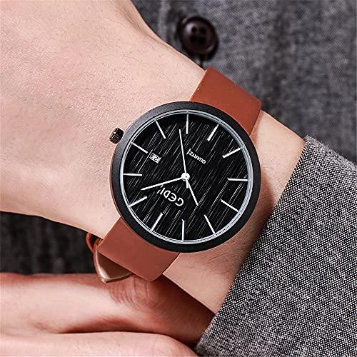 YiChuangMaoYi Reloj de cinturón de Hombre Moda Calendario de un Solo Calendario Reloj Impermeable Personalidad Reloj de Hombre Simple (Color : C)
