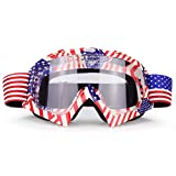 Motocross Motorcycle Goggles Clear Lens Dirt Bike Riding ATV Goggles Mx Goggle Glasses for Men Women Youth Kids (C63)