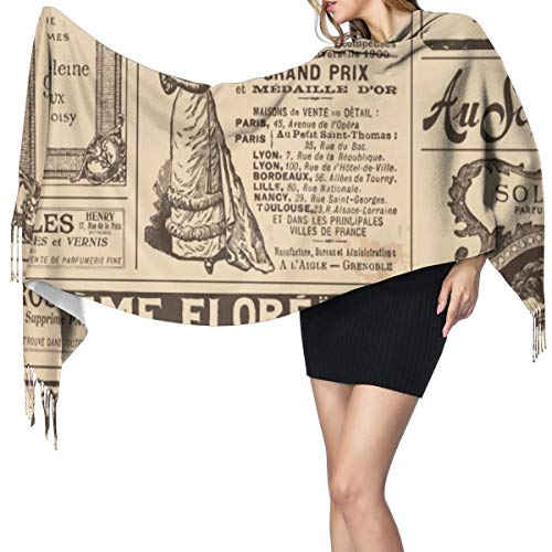 Cachemira de imitación Invierno Bufanda Chal Pegatinas Francesas Png Vintage Mantón para Mujeres Cálida