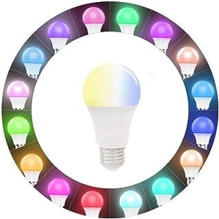 Tabanlly Bombilla LED inteligente WiFi Bombilla LED 9W E27 Tornillo Multicolor Regulable Bombilla Luz Sunrise Wake-Up Wifi Luces compatibles con Alexa, Google Home Assistant e IFTTT, Control remoto