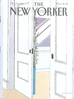 New Yorker cover Simpson house pocket doors 10/26 1981
