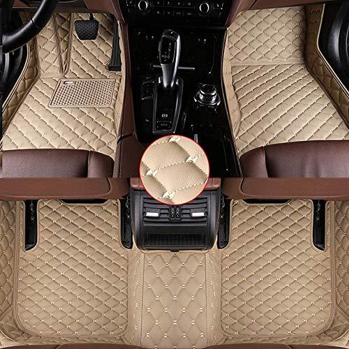 Muchkey El Alfombra Coche Auto Alfombrillas de Coche Antideslizantes De Cuero aptas Beige para Cualquier condición meteorológica para BMW X5 E70 2008 2009 2010 2011 2012 2013