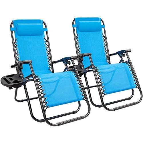 Y&MoD 2er Set Relaxliege Liegestuhl,Gartenliege Sonnenliege,Gartenstuhl, Klappstuhl faltbar,Schwungliege,Schaukelsessel,Ergonomische Relaxsessel,Wetterfest,200kg Belastung,