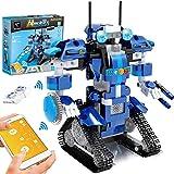 GPTOYS Kit di Robotica per Bambini, Modello da Costruire Controllato Via App con Robot Giocattolo Interattivo Programmabile e Hub Bluetooth, Blocchetto di Costruzione 405 pz