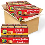 RITZ Peanut Butter Sandwich Cracker Snacks and Cheese Sandwich Crackers, Snack Crackers Variety Pack, 32 Snack Packs