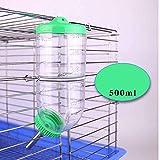 JKGHK Lapin Bouteille d'eau Distributeur Non Goutte À Goutte Pet Fontaines d'eau Alimentant Automatiquement l'eau pour Les Rats Cochons d'Inde Furet,Vert
