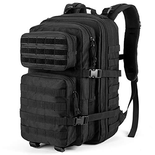 RUPUMPACK Military Tactical Backpack Large Army 3 Day Assault Pack 42L Hiking Camping Survival Rucksack Molle Bug Out Bag