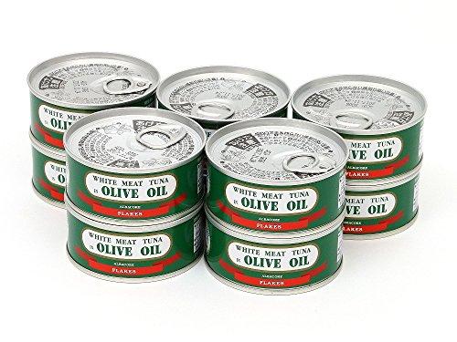 由比缶詰所 熟成まぐろオリーブ油漬 フレークEOヒラ3号缶(90g)×10缶セット