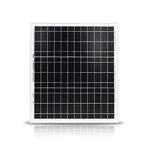 NUZAMAS 20W 12V Panneau solaire Carrosserie en aluminium Chargeur de batterie, Accueil réseau, Caravane, Boat, Abris, Voiture, Mobil-home, Camping, Chasse, Portable