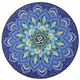 Wuqing Runde Yogamatte Faltbare, Gute Qualität Anti-Rutsch-Naturkautschuk Meditationsmatte...