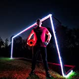 GlowCity Light-Up Soccer Goal and Ball-Kit – Play Glow-in-Dark Soccer at Night with Super Bright LED Lights – Includes Ball and Goal Lights but not Net - (White)
