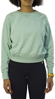 Champion 111277 BS094AHZ Women's Crewneck Crop Top, Medium, Blue