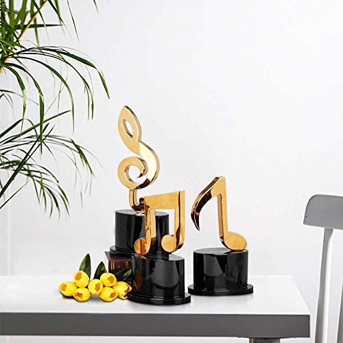 Gal Three-piece Liner Notes Crafts Modern Minimalist Piano Room Piano Room Ornaments Creative Home Decoration Metal 22 * 15 * 40cm, 22 * 14 * 35cm, 23 * 15 * 50cm