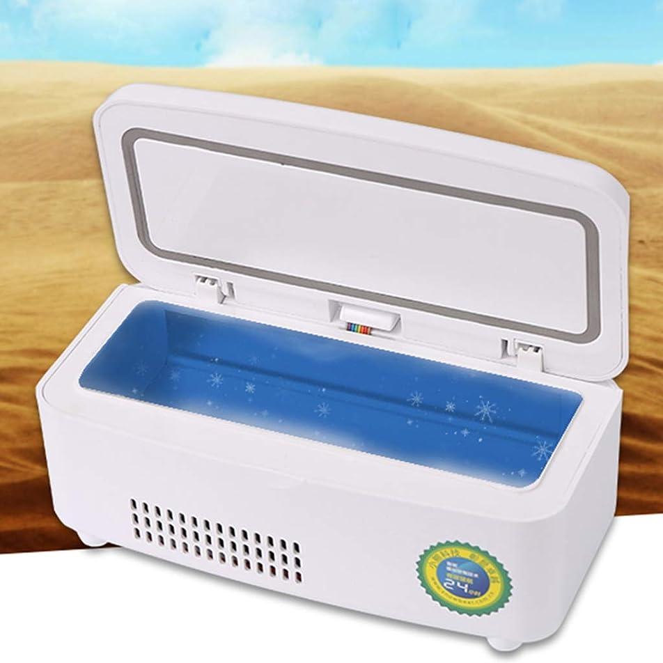 下手スタック有用GXH- インスリン冷却ボックス便利な充電式小型冷凍冷蔵庫、家庭用薬恒温収納ボックス