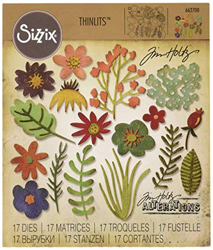 Sizzix Thinlits Fustella, Funky Floreale