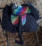 HKM Shettysattel-Set -Colourful-, Heart/Black, 12'