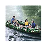 Kayak Boats 4 Person, 10FT Inflatable Dinghy Boats Touring Kayak Canoe Boat Set with Air Pump Rope Paddle 2-4 Person Inflatable Boat Pontoon Boat for Fishing Rafting Water Sports (US Stock) (Green)