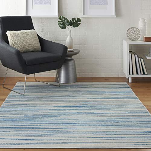 Nourison Jubilant Modern Coastal Blue Area Rug 5'3' x 7'3', 5' x 7
