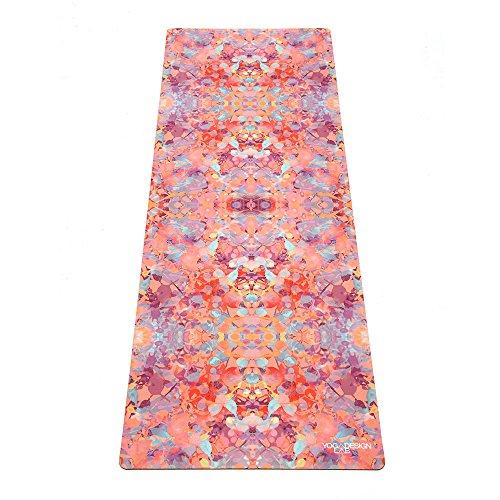 YOGA DESIGN LAB | The Combo Yoga MAT | 2-in-1 Mat+Towel | Eco Luxury | Ideal for Hot Yoga, Power, Bikram, Ashtanga, Sweat | Studio Quality | Includes Carrying Strap! (Kaleidoscope, 3.5mm)