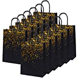 Cooraby 20 Pieces Paper Party Bags Dot Bronzing Kraft Paper Bag Hen Party Bags Bride Gift Bag with Handle for Party Favours