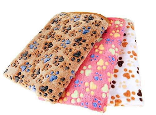 u/d 3 x große Hundedecke, große Haustier-Decken, waschbar, strapazierfähiges Fleece, mehrere Größen, für Hundebett, Sofa, Auto (104 x 76 cm)