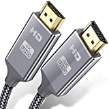 Câble HDMI 4k Ultra HD[3 mètres],Câble HDMI 2.0 en Nylon Tressé avec Ethernet 3D,4K et Retour Audio - Vidéo 4K 2160p Full HD 1080p 3D,TV,Playstation PS3,PS4,HDTV,Arc,HDCP 2.2,HDR
