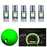 T5 LED 電球 ウェッジ球 メーター球 バルブ パネル球 エアコン球 グリーン 拡散 3030SMD 3連 高輝度 12V 車用 バイク用 LED電球 緑 ダッシュボード メーター インパネ エアコンパネル ルーム 4個セット Nanpoku 1年品質保証 (グリーン)