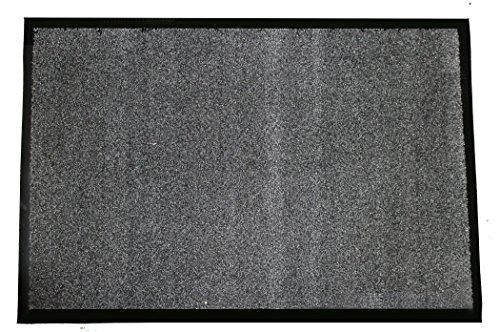 Durable Corporation-654S46 Wipe-N-Walk Vinyl Backed Indoor Carpet Entrance Mat, 4' x 6', Charcoal